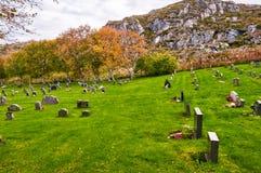 Automne dans le cimetière norvégien Photo libre de droits