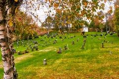 Automne dans le cimetière norvégien Photographie stock libre de droits