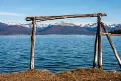 Automne dans le Patagonia La Manche de briquet image libre de droits