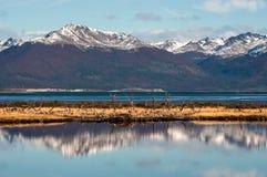 Automne dans le Patagonia La Manche de briquet photographie stock