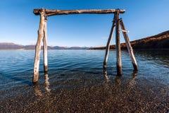 Automne dans le Patagonia Tierra del Fuego, la Manche de briquet photos stock