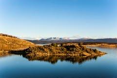 Automne dans le Patagonia Tierra del Fuego, la Manche de briquet images libres de droits