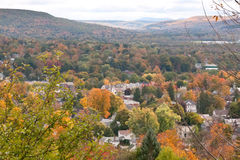 Automne dans Oneonta, New York Photo libre de droits