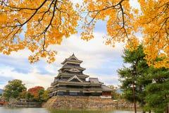 Automne de château de Matsumoto Photos libres de droits