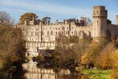Automne de château de Warwick Photographie stock libre de droits