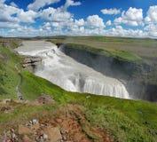 Automne de Gullfoss sur l'Islande Image libre de droits