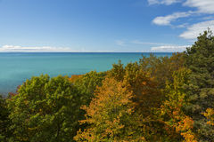 Automne de Michigan de lac Images libres de droits