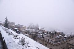 Automne de neige Image libre de droits
