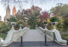 Automne de pont d'arc Images libres de droits