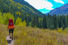 Automne du Colorado de randonneur de randonneur photo libre de droits