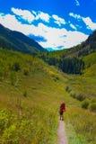 Automne du Colorado de randonneur de randonneur image stock