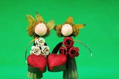 Automne en bois de couples dans l'amour Image stock