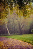 Automne en parc de Goldsworth dans Woking Photos libres de droits