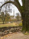 Automne en parc public central de ville de Riga, Lettonie Photo libre de droits