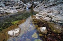 Automne en retard dans le canyon Photographie stock libre de droits