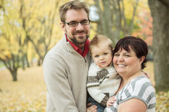 Automne-Familie Lizenzfreie Stockbilder