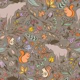 Automne Forest Pattern de vecteur illustration stock