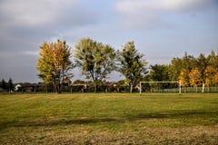 Automne, le football, paysage, image libre de droits