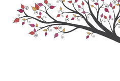 Automne moderne lumineux Autumn Leaves Background 1 Image stock