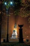 Automne Monument à Peter I dans Kronstadt Image libre de droits