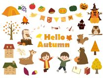 Automne set2 illustration stock