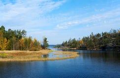 Automne sur Ladoga Photographie stock libre de droits