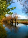 Automne sur le fleuve Image libre de droits