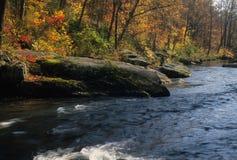 Automne sur le fleuve de poudre photographie stock libre de droits
