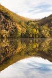 Automne sur le fleuve de Vltava Photos libres de droits