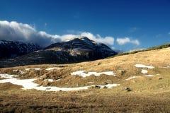 Automne tardif en montagnes de Bucegi image libre de droits