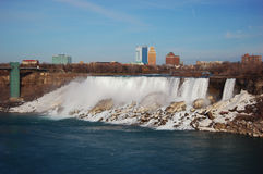 Automnes américains de Niagara Falls en première source Photo stock