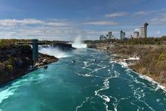 Automnes d'Américain - chutes du Niagara, New York image libre de droits