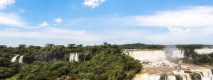 Automnes d'Iguaçu, côté du Brésil Images stock