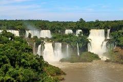 Automnes d'Iguassu, Brésil images stock