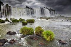 Automnes d'Iguassu, vue de côté brésilien Photos libres de droits