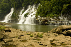 Automnes de jumeau, île Tennessee de roche images stock