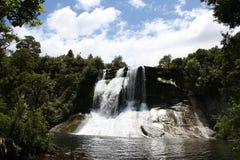 Automnes de l'eau d'Aniwaniwa - lac Waikaremoana Photo libre de droits