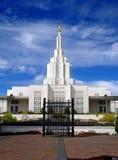 Automnes de l'Idaho de temple mormon Photographie stock