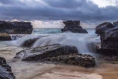 Automnes de la roche de Sandy Images stock