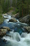 Automnes en amont de cascade Images stock