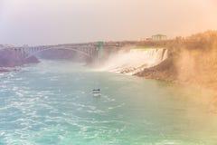 Automnes en fer à cheval, chutes du Niagara, Niagara Image libre de droits