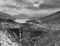Automnes et lac Chuzenji, Nikko, Japon de Kegon Photo libre de droits