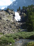 automnes Haut-montagneux sur le fleuve Kuiguk photo libre de droits