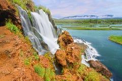 Automnes Idaho de crique de chute Photographie stock