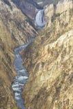 Automnes inférieurs de Yellowston, Wyoming Photographie stock libre de droits