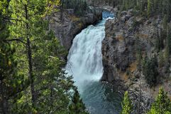Automnes supérieurs de Yellowstone image stock