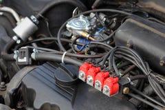 Automobiel, alternatieve energie Royalty-vrije Stock Afbeeldingen