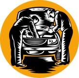 Automobiel auto mechanisch het herstellen voertuig Stock Foto