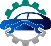 Automobiel mechanisch embleem royalty-vrije illustratie