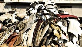 Automobiel metaalschroot Stock Afbeelding